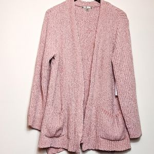Seven7 PINK Chenille Cardigan